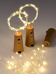 Недорогие -3 шт. Строка светодиодные бутылки вина с пробкой 20 светодиодные фонари батареи пробка для партии свадьба рождество хэллоуин бар декор