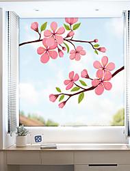 Недорогие -цветные цветы оконная пленка&усилитель; наклейки украшения матовые / цветочные цветочные ПВХ (поливинилхлорид) наклейки на окна / матовые / наклейки на двери
