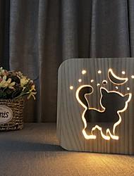 cheap -Dog Shape Decor Night Light Wood Creative USB Powered Home Decoration Staycation Bedroom Living Room 1pc