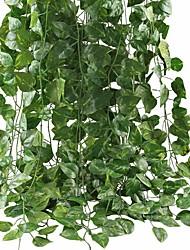 Недорогие -искусственные листья плюща гирлянда растения лоза для подвешивания свадебные гирлянды поддельные листва цветы главная кухня сад офис свадьба декор стены 2 упак.