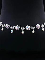 abordables -Femme Danseur Danse du ventre Bal Masqué Oriental Perle Alliage Argent Accessoires de taille