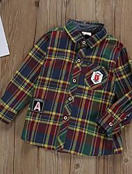 cheap -Kids Boys' Basic Check Long Sleeve Sweater & Cardigan Yellow