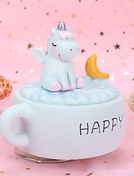 cheap -Music Box Horse Cute Singing Lovely Unique Plastic Shell Women's All Girls' Kid's Adults Child's 1 pcs Graduation Gifts Toy Gift