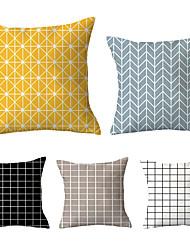 Недорогие -5 шт. Декоративная подушка простая классика 45 * 45 см тумбочка и диван автомобильная подушка декоративная подушка