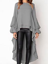 cheap -Women's Elegant Slim Sheath Dress - Solid Colored One Shoulder Black White Orange S M L XL