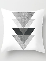 cheap -1 pcs Polyester Pillow Cover Nordic Black-and-White Throw Pillow Case INS Style Modern Simple Geometric Plaid Stripe Pillow Sofa Bedroom Headrest Cushion