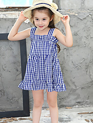 cheap -Kids Girls' Check Dress Blue