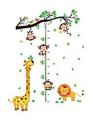 Недорогие -обезьяна измеряет ваш рост рост наклейки - наклейки на стену животных животные / цветы / ботаническая гостиная / для интерьера