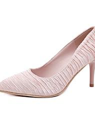 abordables -Femme Chaussures de mariage Talon Aiguille Bout pointu Satin Printemps été Noir / Rose / Mariage
