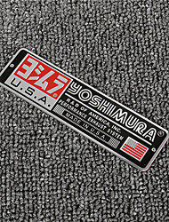 cheap -5PCS/Lot 3D Aluminum Heat-resistant Motorcycle Exhaust Pipe Decal Sticker for YOSHIMURA