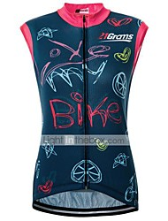 cheap -Malciklo Women's Sleeveless Cycling Jersey Terylene Red+Blue Bike Jersey Top Road Bike Cycling Quick Dry Sweat-wicking Sports Clothing Apparel / Micro-elastic / Race Fit / Italian Ink