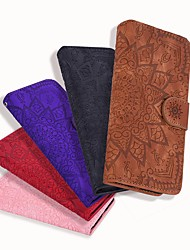 cheap -Phone Case For Apple Full Body Case Leather Wallet Card iPhone 12 Pro Max 11 SE 2020 X XR XS Max 8 7 6 Wallet Card Holder Embossed Flower / Floral Solid Color PU Leather