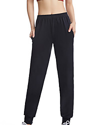 cheap -Women's High Waist Yoga Pants Pocket Pants / Trousers Thermal / Warm Breathable Black Cotton Running Fitness Sports Activewear Stretchy Loose