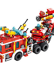 cheap -Building Blocks 557 pcs Vehicles compatible ABS+PC Legoing Simulation Fire Engine Vehicle All Toy Gift / Kid's