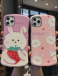 cheap -Case for iPhone X Fun Cartoon Rabbit Protective Fashion Cool Cover Skin Teens Girls Cases for iPhone 6 / iPhone 7/ iPhone 11 pro