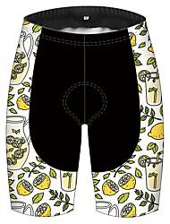 cheap -21Grams Men's Cycling Shorts Bike Pants / Trousers Padded Shorts / Chamois Bottoms Breathable 3D Pad Quick Dry Sports Fruit Lemon Green / Black Mountain Bike MTB Road Bike Cycling Clothing Apparel