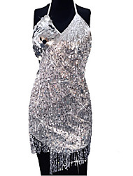 cheap -Women's Elegant Bodycon Dress - Solid Colored Black Gold Silver One-Size
