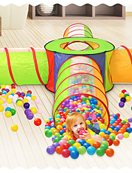 cheap -Play Tent & Tunnel Ball Pool Playhouse Tent Crawl Tunnel Toy Classic Theme Indoor Outdoor Foldable Convenient Simulation Exquisite Parent-Child Interaction Polyester Indoor Outdoor Spring Summer Fall