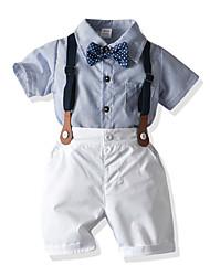 cheap -Baby Boys' Boho / Chinoiserie Striped Short Sleeve Short Short Clothing Set Light Blue