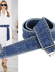 cheap -Cotton / Polyester / Cotton Fabric Causal / Daily Wear Sash With Metallic Buckle / Belt / Solid Women's Sashes