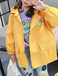 Недорогие -Дети Девочки Классический Однотонный Куртка / пальто Желтый