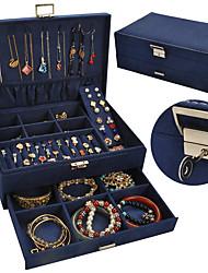 cheap -Jewelry Box - Leather Light Blue, Black, Blue 27 cm 18.5 cm 10.5 cm / Women's