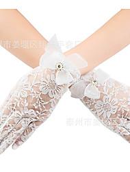 Недорогие -Перчатки С пальцами Satin Назначение Невеста Косплей Хэллоуин Карнавал Жен. Бижутерия Модное ювелирное украшение