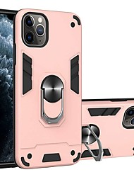 cheap -Case For Apple iPhone 11 / iPhone 11 Pro / iPhone 11 Pro Max with Stand Back Cover Solid Colored Two-in-one Battlegear TPU / PC for iPhone X / XS / XR / Xs Max / 8 Plua / 8