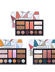cheap -12 Colors 1 pcs Matte Long Lasting / water-resistant / Brightening Blush / Highlighter / Cream # Classic / Traditional Kits / Easy to Carry / lasting Daily Wear / Date / Party & Evening Quadrate