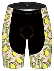 cheap -21Grams Women's Cycling Shorts Bike Pants / Trousers Padded Shorts / Chamois Bottoms Breathable 3D Pad Quick Dry Sports Fruit Lemon Black / Yellow Mountain Bike MTB Road Bike Cycling Clothing Apparel