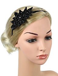cheap -Retro Traditional / Classic Stretch Stripes / Fabrics Headpiece with Crystals / Glitter 1 / box Wedding / Carnival Headpiece
