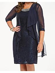 cheap -Half Sleeve Chiffon Wedding Women's Wrap With Lace / Solid Coats / Jackets