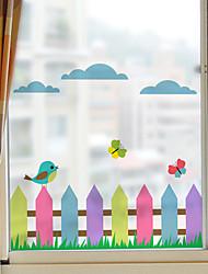 Недорогие -цветной забор оконная пленка&усилитель; наклейки украшения матовые / другие животные / персонаж ПВХ (поливинилхлорид) наклейка окна / матовая / дверная наклейка