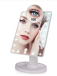Недорогие -22 светодиодные фонари с сенсорным экраном зеркало для макияжа 1x 10x увеличительные зеркала регулируемые usb или использование батарей