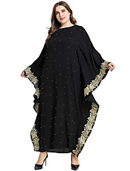cheap -Adults' Women's Abaya Dress For Party Beaded Cotton Polyster Pearl Embroidered Halloween Carnival Masquerade Dress
