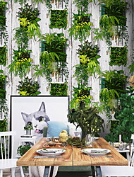 cheap -Wallpaper Wall Covering Sticker Film Grass Plant Adhesive Required Non Woven Home Décor 1000*53 cm