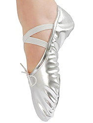 cheap -Girls' Dance Shoes PU Ballet Shoes Flat Gold Plated Transparent Heel Customizable Gold / Silver / Performance