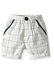cheap -Kids Toddler Boys' Shorts Houndstooth White Black Basic Streetwear