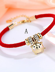 cheap -Men's Women's Bracelet Classic Star Fashion Silver-Plated Bracelet Jewelry Dark Red / Burgundy / Red For Daily
