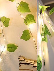 cheap -New Artificial Grape Ivy Leaf Fairy Flexible String Holiday Lighting Home Party Camping Wedding DIY Decoration 2M 20Leds AA Battery Power Lighting