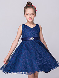 cheap -Princess Dress Girls' Movie Cosplay Cosplay Halloween Black / White / Purple Dress Halloween Carnival Masquerade Tulle Lace Polyester