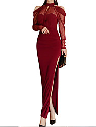 cheap -Women's Birthday Party Party & Evening Bodycon Dress - Solid Colored Wine S M L XL