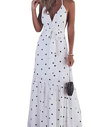 cheap -Women's Elegant Swing Dress - Polka Dot Black White Red S M L XL
