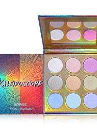 cheap -9 Colors 1 pcs Matte Long Lasting / Uneven Skin Tone / water-resistant Highlighter / Bronzer / EyeShadow # Classic / Sweet Kits / Easy to Carry / Easy Carrying Daily Wear / Date / Party & Evening