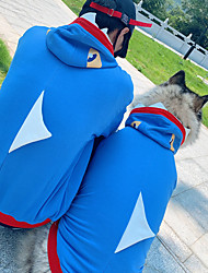 cheap -Dog Cat Costume Hoodie Matching Outfits Color Block Casual / Sporty Cute Sports Casual / Daily Winter Dog Clothes Puppy Clothes Dog Outfits Warm Blue Costume for Girl and Boy Dog Cotton Men M M L XL
