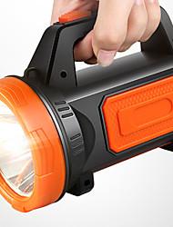 Недорогие -Ручные фонарики 500 lm Светодиодная лампа LED 1 излучатели с зарядным устройством Портативные Походы / туризм / спелеология Повседневное использование Велосипедный спорт Оранжевый Зеленый