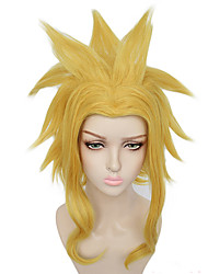 cheap -Synthetic Wig Kamina Cosplay My Hero Academy Battle For All / Boku no Hero Academia Curly Halloween Asymmetrical Wig Blonde Medium Length Blonde Synthetic Hair 15 inch Men's Best Quality Blonde