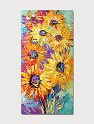 cheap -Hand Painted Rolled Canvas Oil Painting  Abstract Modern Sunflowers Home Decoration  Painting Only
