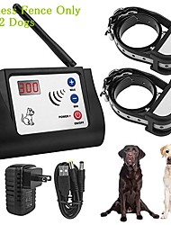 cheap -Electric Wireless Dog Fence Rechargeable Waterproof Pet Containment System Beep Vibration Shock Dog Fence Adjustable Control Distance Collars for 2 Dogs