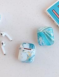 Недорогие -чехол для яблока карта воздуха воздушные капсулы 1-го поколения 2-го поколения универсальный цветной мраморный рисунок тпу материал imd процесс тонкой заморозки Bluetooth-гарнитура защитная оболочка